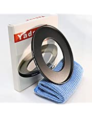 Yadsux 46mm to 58mm Step-Up Lens Adapter Ring for Camera Lenses Filters,Metal Filters Step Up Ring Adapter,The Connection 46MM Lens to 58MM Filter Lens Accessory,Cleaning Cloth with Lens (46mm to 58mm)