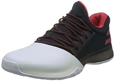 adidas Men's Harden Vol.1, Core Black/Scarlet/Footwear White, 8.5 M US