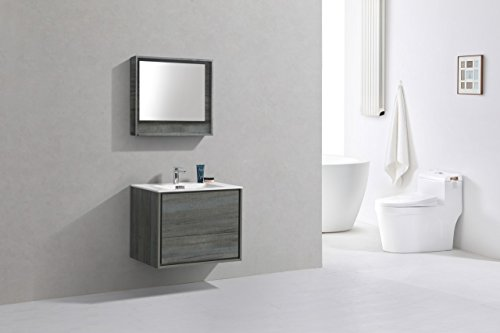"""De Lusso 30"""" Ocean Gray Wall Mount Modern Bathroom Vanity -  - bathroom-vanities, bathroom-fixtures-hardware, bathroom - 41x1X0hcYRL -"""