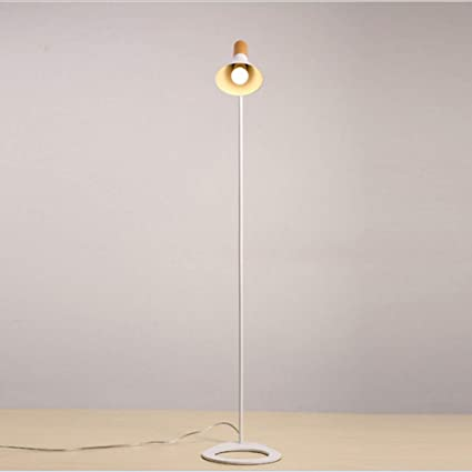 SXFYHXY LED lámpara de pie Moderna Minimalista Madera Grano ...