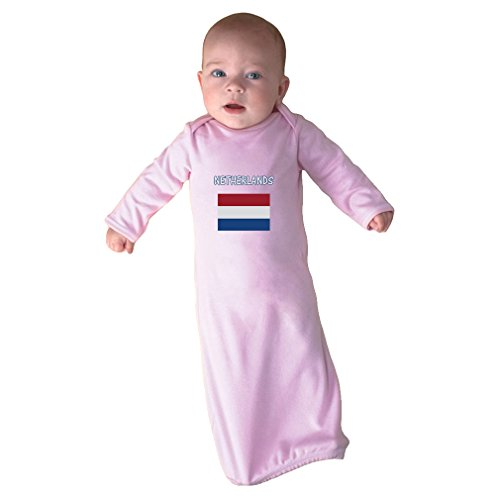Cute Rascals Love Heart Netherland Soccer Ball Soccer Infant Baby Combed Ring-Spun Cotton Sleeping Gown - Soft Pink, Gown Only by Cute Rascals