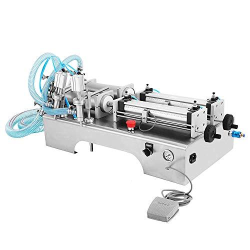 (LOVSHARE Liquid Filling Machine 100-1000ml Volume Liquid Filler Dual Nozzles Pneumatic Filling Machine for Paste Two Heads Horizontal Semi-auto Filling Machine (100-1000ml))