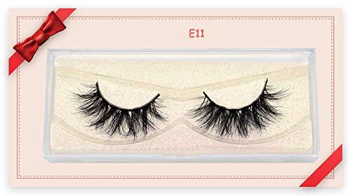 Lashes Mink Eyelashes Natural Crisscross Cruelty free 3D Mink Lashes Makeup Handmade Eyelashes With Pink Eyelash Boxes (E11)
