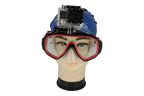 Oumers Gopro Dive Mask Mount, Tempered Glasses Swimming Goggles Mask Mount for Scuba Diving and Snorkeling for all Gopro Models, Sj4000, SJ5000, Xiaomi Yi…Gift Box Included