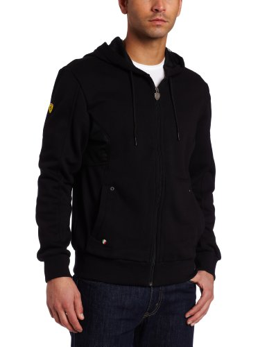 (PUMA Men's Ferrari Hooded Sweat Jacket, Black, Small)