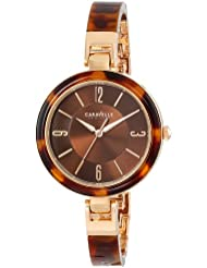 Caravelle New York Womens 44L137 Analog Display Japanese Quartz Watch