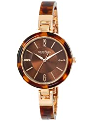 CARAVELLE NEW YORK Women's 44L137 Tortoise Plastic Bangle Watch