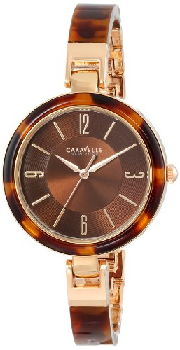 Caravelle New York Women's 44L137 Analog Display Japanese Quartz Watch - Ladies Watch Bangle Bulova Steel