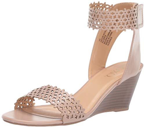 XOXO Women's Sadler Wedge Sandal, Blush, 6 M US from XOXO