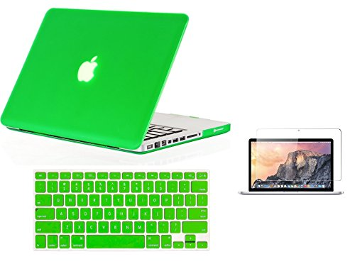 Raidfox MacBook Pro 13 Accessories 3-in-1 Plastic Hard Case and Soft Silicone Keyboard Cover - HD Clear Screen Protector for Apple Mac Book 13.3