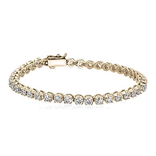 1-10 Carat|14K Gold | Lab Grown Diamond Tennis Bracelet Made in USA IGI Certified Friendly Diamond Bracelet For Women