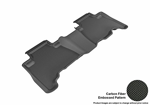 3D MAXpider Second Row Custom Fit All-Weather Floor Mat for Select Toyota 4Runner Models - Kagu Rubber (Black)
