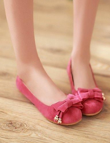 PDX uk6 sintética us8 pink mujer punta amarillo talón cn39 plano rosa Casual rojo Toe Flats eu39 zapatos de piel de naranja rwXxTqrH