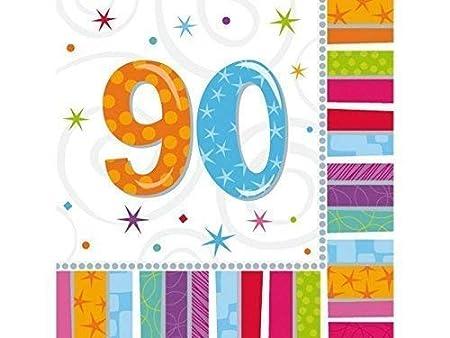 Partydeco 16 Piezas Servilleta Servilletas X 33 33 cm Número ...