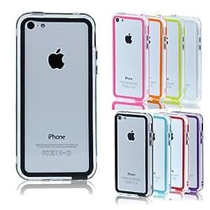 SHOUJIKE BIG D Middle Clear Bumper for iPhone 5C(Assorted Color) , Black
