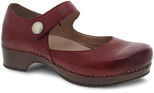 Dansko Women's Beatrice Red Waxy Burnished 40 Regular EU (Dansko Shoes Professional)