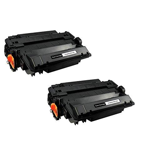 Powerwarehouse replacement HP Laserjet CE255X Monochrome Compatible Toner Cartridge -2PK