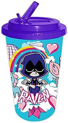 Go Raven w// Flip Straw 16oz Teen Titans Cold Cup