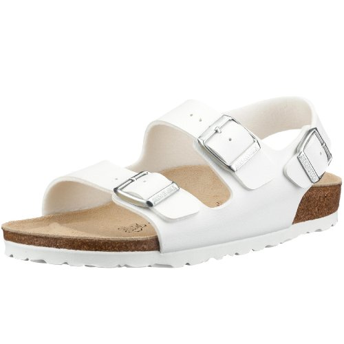 Birkenstock Milano Leather Sandals, White, 40 ()