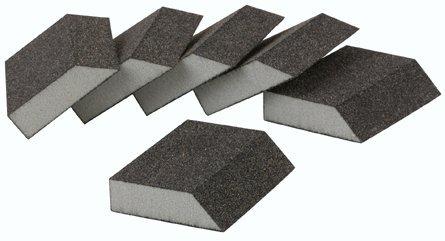 Harbor Freight Tools Pack of 6 Mdm. Grade Aluminum Oxide Sanding Sponges with Beveled Edge