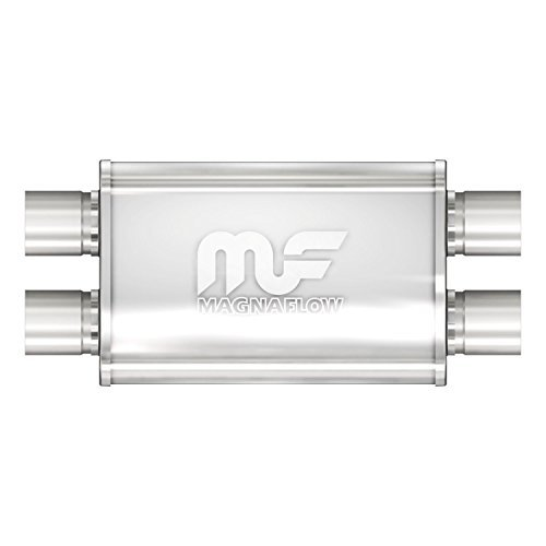 Magnaflow 11386 Stainless Steel 2.5 Oval Muffler by Magnaflow (Oval Body Mufflers)