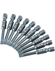 10 sztuk 1/4 cala wiertła z płaskim łbem sześciokątnym 50mm S2 wkrętak płaski ze stali stopowej bity H6.3 * 50 * SL4mm