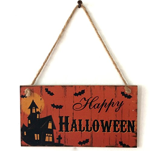 Happy Halloween Wood Welcome Sign Thanksgiving Hanging Wall