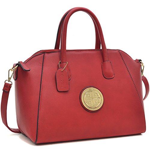 (Dasein Faux Leather Weekender Satchel, Tote, Shoulder Bag, Tablet iPad Bag - New)
