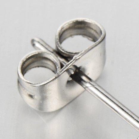 Rock Punk Mens Wolf Head Sword Stud Earrings in Stainless Steel, 2 Pcs by COOLSTEELANDBEYOND (Image #5)