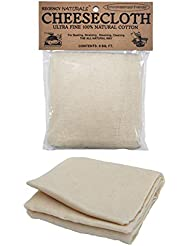Regency Wraps Natural Ultra Fine Cheesecloth 100% Cotton, For Basting Turkey and Poultry, Straining Soups and Sauces & Making Cheese 9 sq.ft.