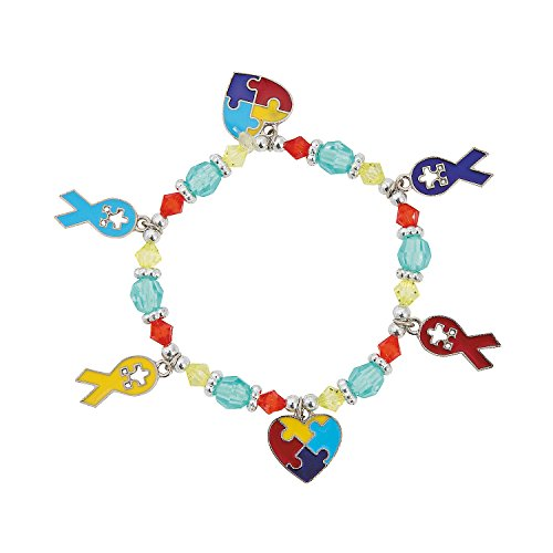 Autism Awareness Bracelet Plastic Stretchy