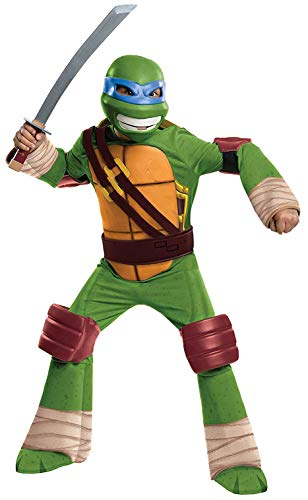 Teenage Mutant Ninja Turtles Deluxe Leonardo Costume, Medium -