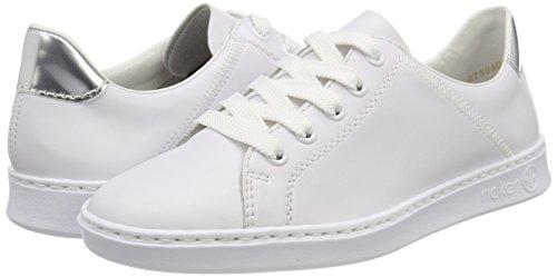 argento N48g1 Rieker Sneakers weiss Femme Basses Blanc zHnx1f6pqw