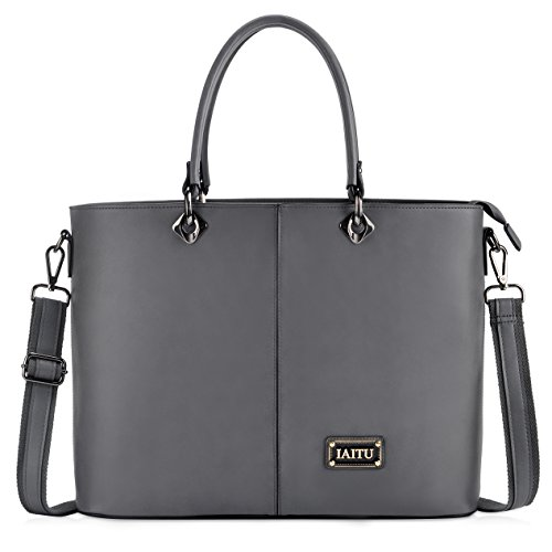 IAITU Laptop Bag, Multifunctional Briefcase Top Handle Tote Bag Womens Shoulder Bag for School Travel (Executive Laptop Briefcase)