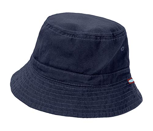 City Threads Little Boys' and Girls' Solid Wharf Hat Bucket Hat for Sun Protection SPF Beach Summer - Navy - XL(4-6)