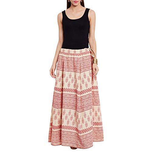 Motif 100% Cotton Machine - ShalinIndia Womens Cotton Printed Skirt Ethnic and Tribal Motifs,Medium,Red