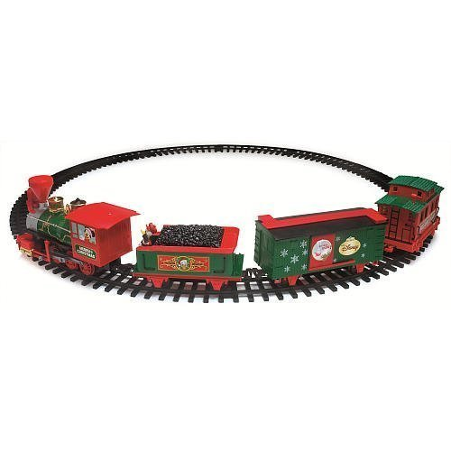 Disney Christmas Train Set with Light and Sound - Characters Move up & Down! (Disney Train Christmas)