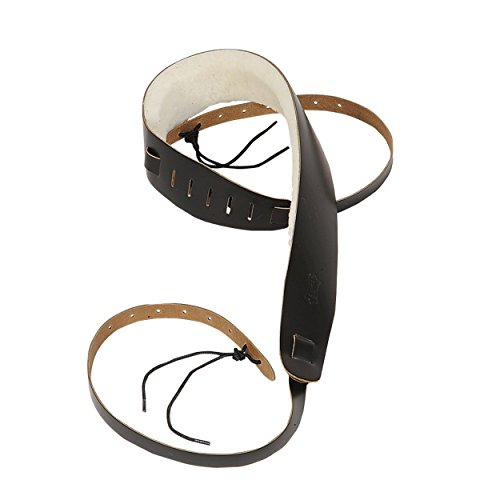 - Levy's Leathers PM14-DBR Genuine Leather Banjo Strap with Sheepskin, Dark Brown