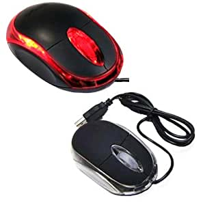 Importer520 Black 3-Button 3D USB 800 Dpi Optical Scroll Mice Mouse Red LEDs For Notebook Laptop Desktop