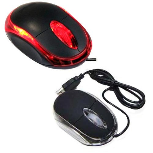 3d Scroll Optical Usb (Importer520 Black 3-Button 3D USB 800 Dpi Optical Scroll Mice Mouse Red LEDs For Notebook Laptop Desktop)