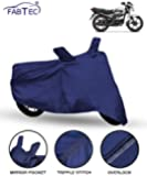 FABTEC Bike/Motorcycle Body Cover for Hero Passion Pro (Blue)