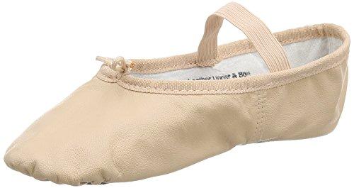 BAE90 ballettschläppchen-full-semelle en cuir - Rose - Rose, Taille 38