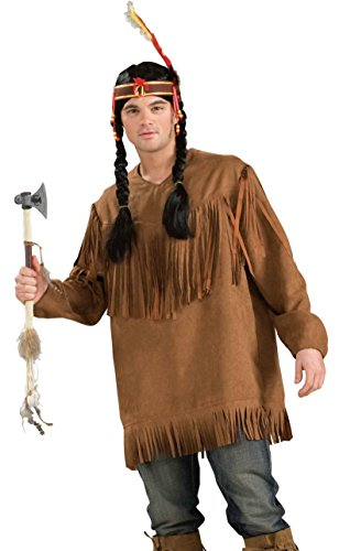[Forum Novelties Men's Native American Costume Shirt, Brown, One Size] (Male Indian Costumes)