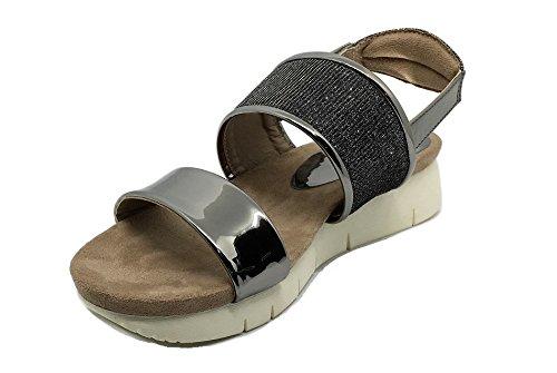 Sandalia Comfort Plomo-Plata D'Angela