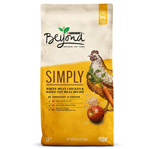 Purina Beyond Simply Natural, White Meat Chicken & Whole Oat Meal Recipe Dry Cat Food, 6Lb Bag ()