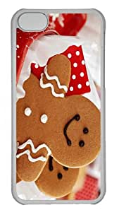 rubber cases smile cookies sweets PC Transparent case for iphone 5C