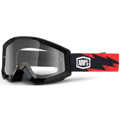 100% STRATA Goggles Slash - Clear Lens, One Size