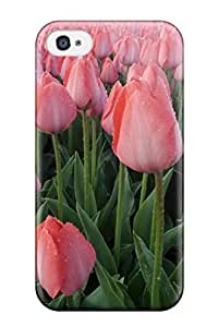 Defender Case With Nice Appearance (pink Tulips Beautiful Nature Flower) For Iphone 4/4s wangjiang maoyi