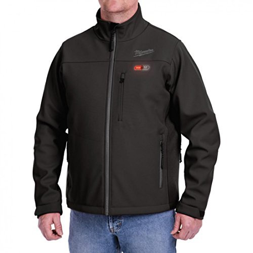 Milwaukee Jacket M12 12V Lithium-Ion Heated Front and Back Heat Zones All Sizes and Colors - Battery Not Included - (Extra Large, Black)