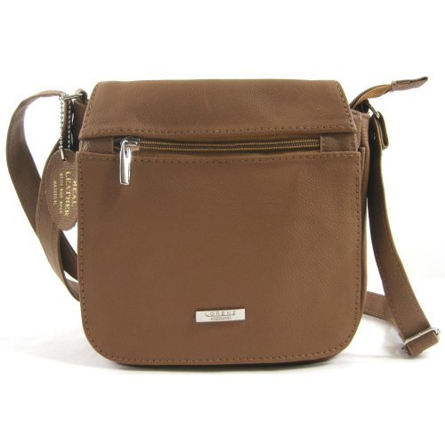 Bag Shoulder Handbag Leather Womens Tan Brown Tan Dark Black EfqTv7nwv